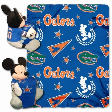 Florida Mickey Mouse Pillow / Throw Combo