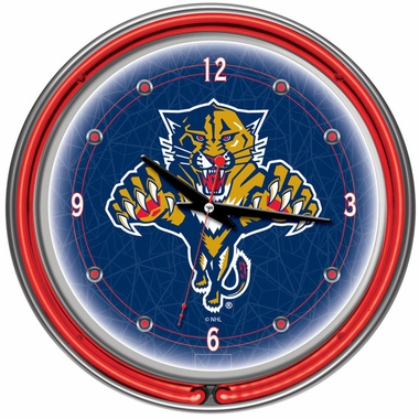 Florida Panthers 14 Inch Neon Clock