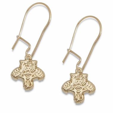 Florida Panthers 14K Gold Post or Dangle Earrings