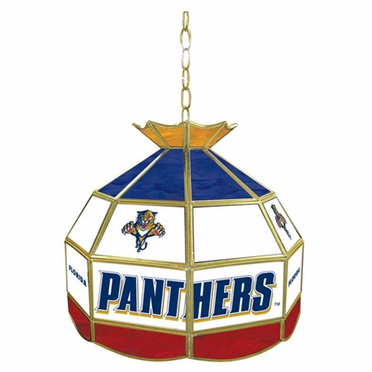 Florida Panthers 16 Inch Diameter Stained Glass Pub Light