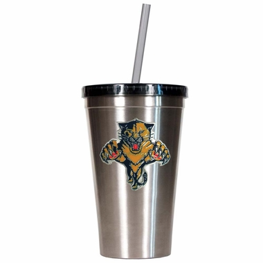 Florida Panthers 16oz Stainless Steel Insulated Tumbler with Straw