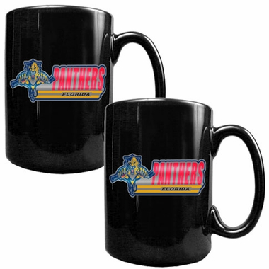 Florida Panthers 2 Piece Coffee Mug Set (Wordmark)
