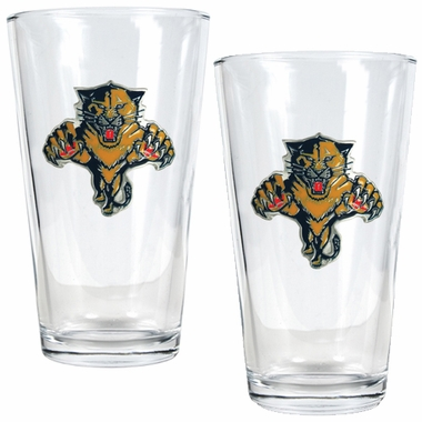 Florida Panthers 2 Piece Pint Glass Set