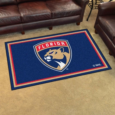 Florida Panthers 4 Foot x 6 Foot Rug