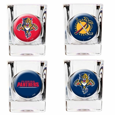 Florida Panthers 4 Piece Assorted Shot Glass Set