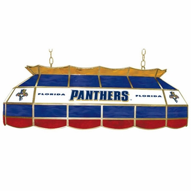 Florida Panthers 40 Inch Rectangular Stained Glass Billiard Light