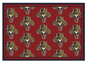 "Florida Panthers 5'4"" x 7'8"" Premium Pattern Rug"