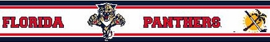 Florida Panthers 5.5 Inch (Height) Wallpaper Border