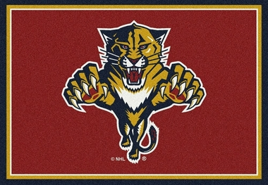 "Florida Panthers 7'8"" x 10'9"" Premium Spirit Rug"
