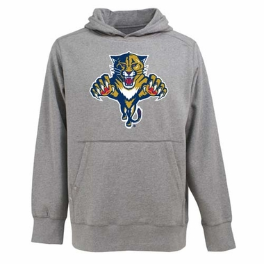 Florida Panthers Big Logo Mens Signature Hooded Sweatshirt (Color: Gray)