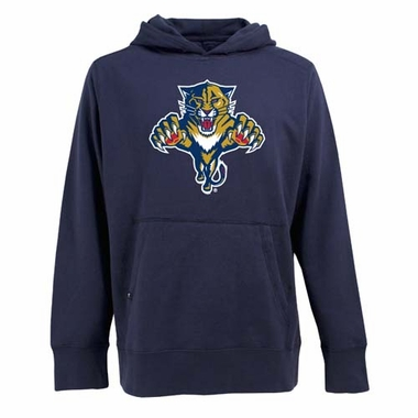 Florida Panthers Big Logo Mens Signature Hooded Sweatshirt (Team Color: Navy)