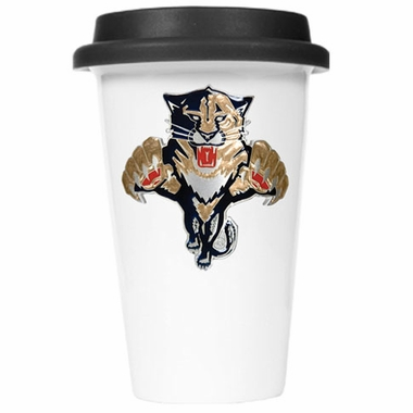 Florida Panthers Ceramic Travel Cup (Black Lid)