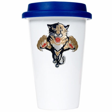 Florida Panthers Ceramic Travel Cup (Team Color Lid)
