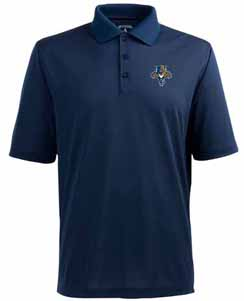 Florida Panthers Mens Pique Xtra Lite Polo Shirt (Color: Navy) - Large