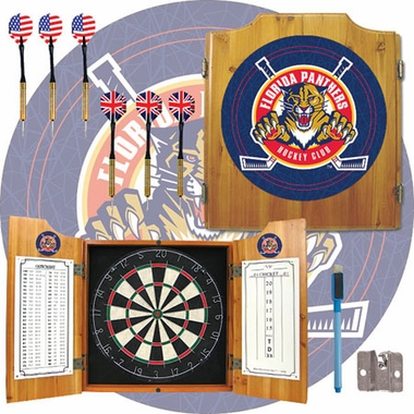 Florida Panthers Complete Dart Cabinet