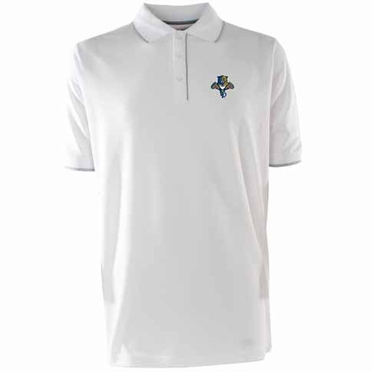 Florida Panthers Mens Elite Polo Shirt (Color: White)