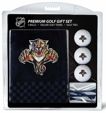 Florida Panthers Embroidered Towel Golf Gift Set