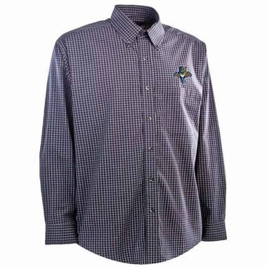 Florida Panthers Mens Esteem Button Down Dress Shirt (Team Color: Navy)