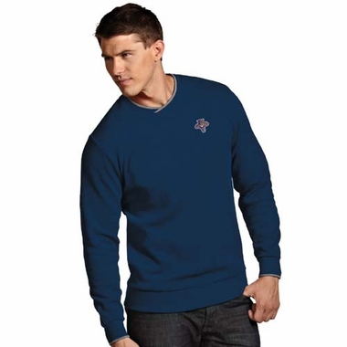 Florida Panthers Mens Executive Crew Sweater (Team Color: Navy)