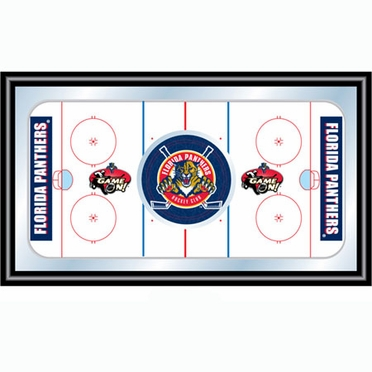 Florida Panthers Hockey Bar Mirror