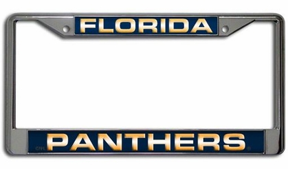 Florida Panthers Laser Etched Chrome License Plate Frame