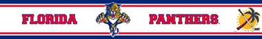 Florida Panthers Peel and Stick Wallpaper Border