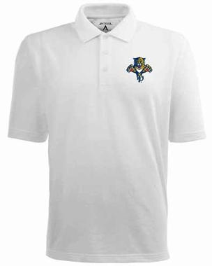Florida Panthers Mens Pique Xtra Lite Polo Shirt (Color: White)