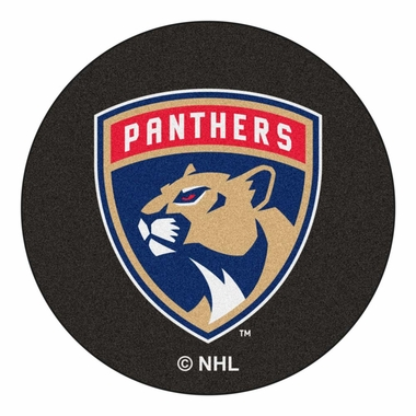 Florida Panthers 27 Inch Puck Shaped Rug
