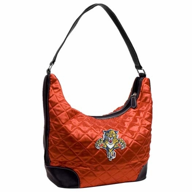 Florida Panthers Quilted Hobo Purse