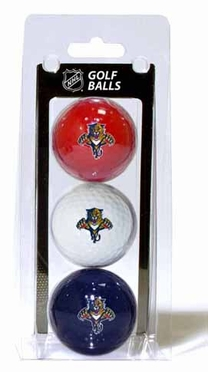 Florida Panthers Set of 3 Multicolor Golf Balls