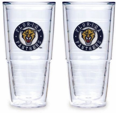 "Florida Panthers Set of TWO 24 oz. ""Big T"" Tervis Tumblers"