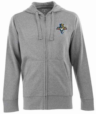 Florida Panthers Mens Signature Full Zip Hooded Sweatshirt (Color: Gray)