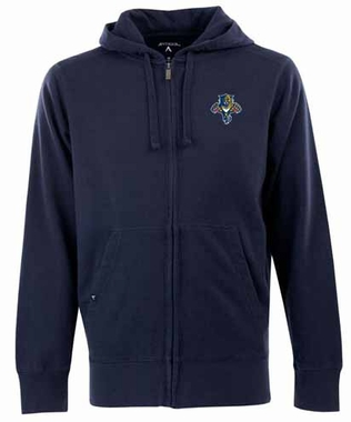 Florida Panthers Mens Signature Full Zip Hooded Sweatshirt (Team Color: Navy)