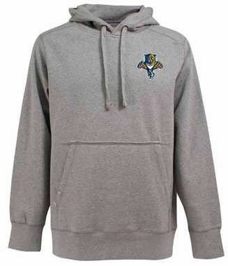 Florida Panthers Mens Signature Hooded Sweatshirt (Color: Gray)