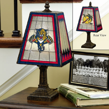 Florida Panthers Small Art Glass Lamp