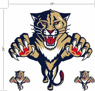 Florida Panthers Wallmarx Large Wall Decal