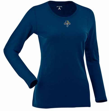 Florida Panthers Womens Relax Long Sleeve Tee (Team Color: Navy)