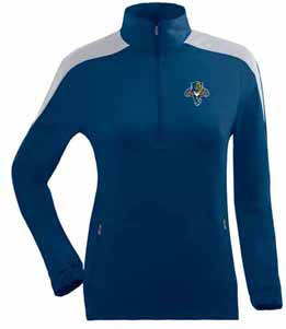 Florida Panthers Womens Succeed 1/4 Zip Performance Pullover (Team Color: Navy) - Small
