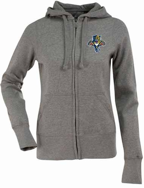 Florida Panthers Womens Zip Front Hoody Sweatshirt (Color: Gray)