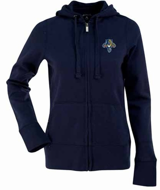 Florida Panthers Womens Zip Front Hoody Sweatshirt (Team Color: Navy)