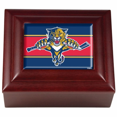 Florida Panthers Wooden Keepsake Box