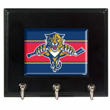 Florida Panthers Wooden Keyhook Rack