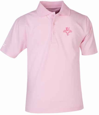 Florida Panthers YOUTH Unisex Pique Polo Shirt (Color: Pink)