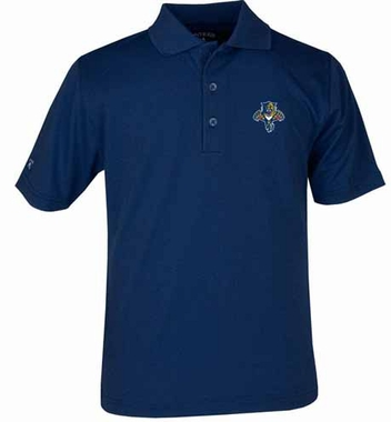 Florida Panthers YOUTH Unisex Pique Polo Shirt (Team Color: Navy)