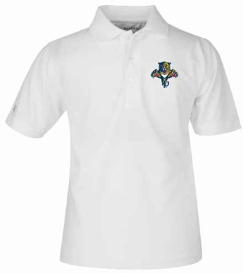 Florida Panthers YOUTH Unisex Pique Polo Shirt (Color: White)