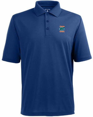 Florida Mens Pique Xtra Lite Polo Shirt (Color: Royal)
