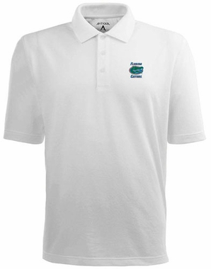 Florida Mens Pique Xtra Lite Polo Shirt (Color: White)