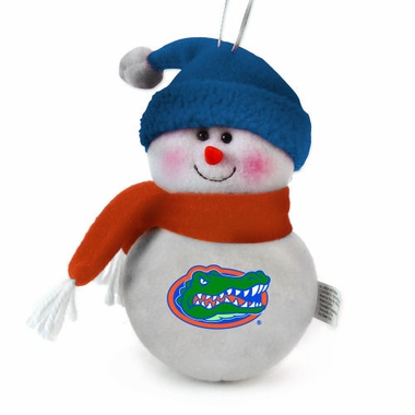 Florida Plush Snowman Ornament (Set of 3)