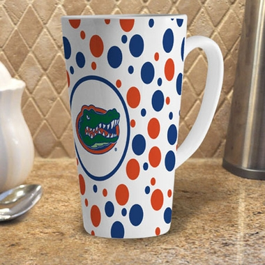 Florida Polkadot 16 oz. Ceramic Latte Mug