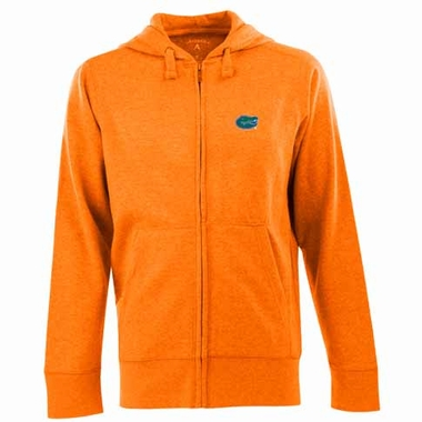 Florida Mens Signature Full Zip Hooded Sweatshirt (Color: Orange)